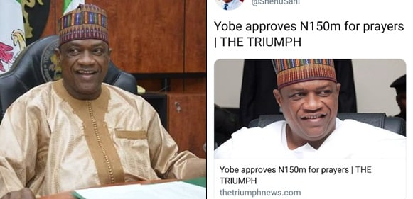 Yobe Govt Approves N150 Million For Prayers For Peace And Tranquility