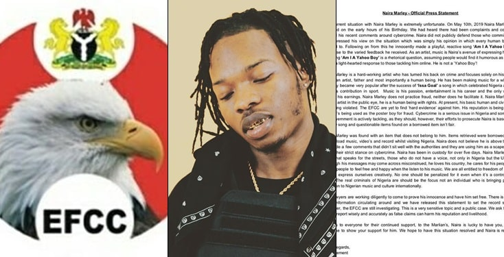 Naira Marley's Management Releases Official Statement About Arrest