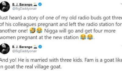 Image result for Married OAP leaves radio station after impregnating three of his colleagues