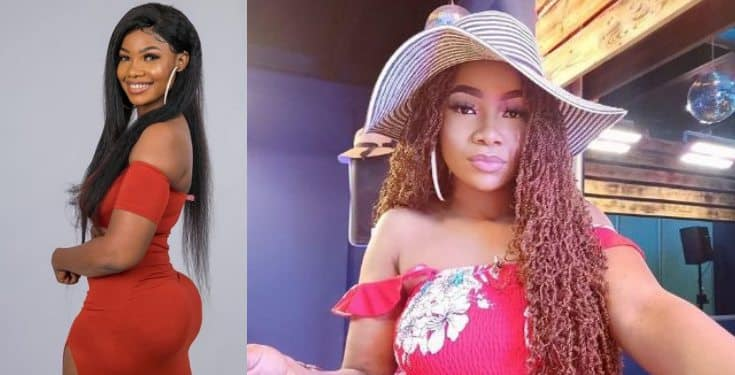 BBNaija: Tacha's billboard gets destroyed in Imo State (video)