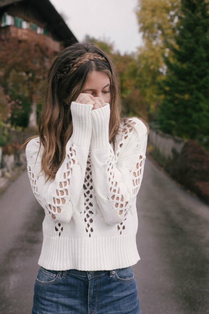 Express Sweater and Jeans worn by Kiara Schwartz