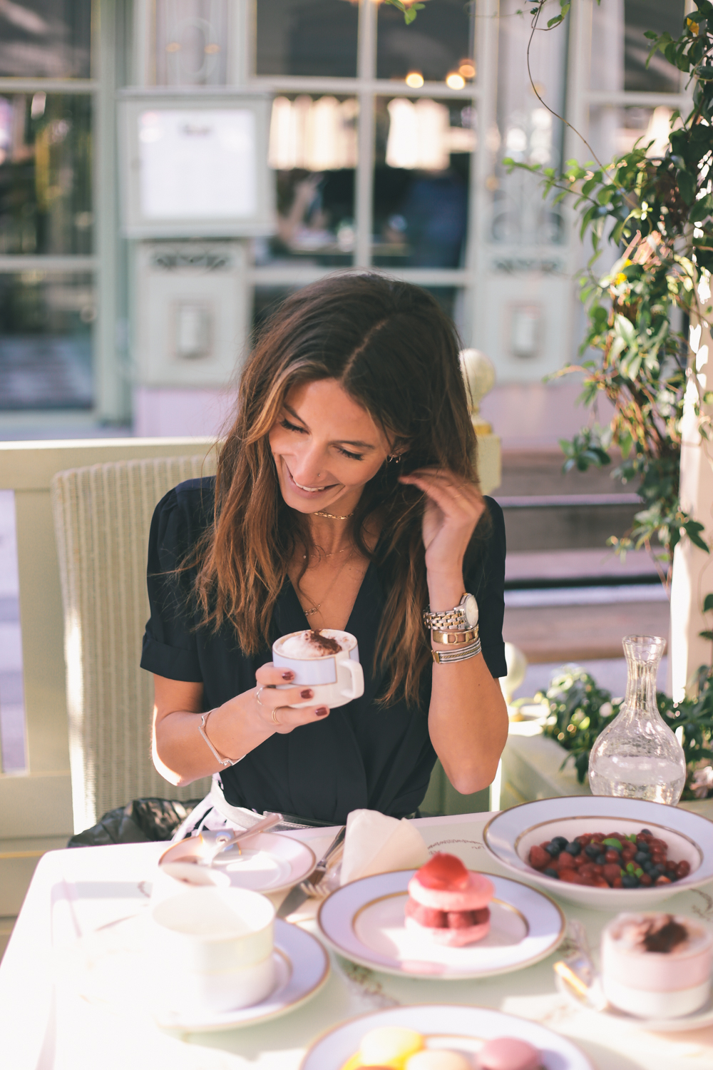Blogger Kiara Schwartz at Ladurée