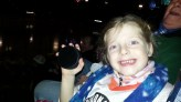 Charlotte with her puck