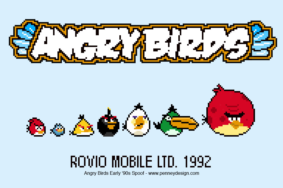 Angry Birds – 1990 Spoof