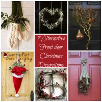 7 Alternative ideas for decorating your front door this
