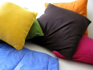 Pillows Brightly Colored