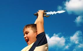 kid with sword