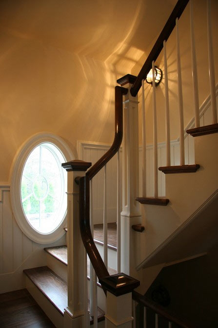 Toby Leary Fine Woodworking Custom Built Millwork And Stairs For   Cape Cod Staircase Designs   Raised Bungalow Deck   Layered   Interior   Veranda Step   Stair