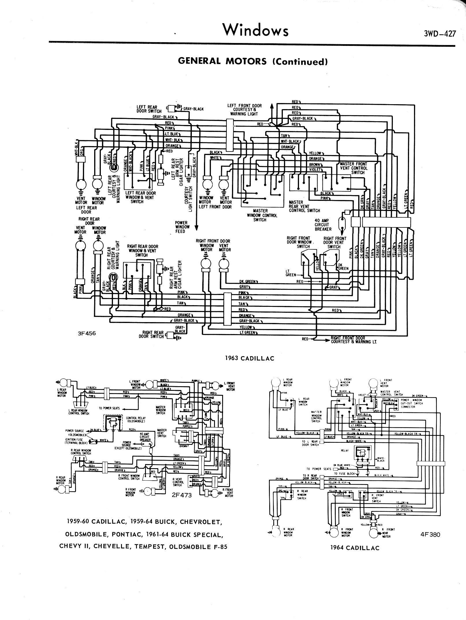 19571965 accessory wiring diagrams 3wd425