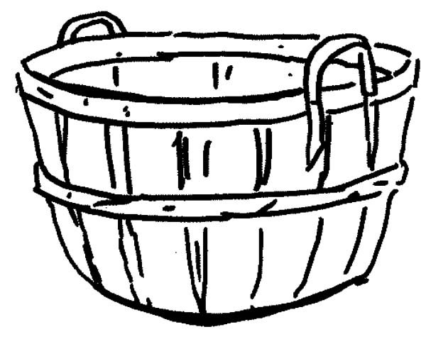 empty apple basket coloring