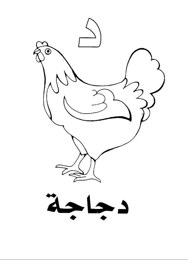 Arabic Letters Coloring Sheets Coloring Pages