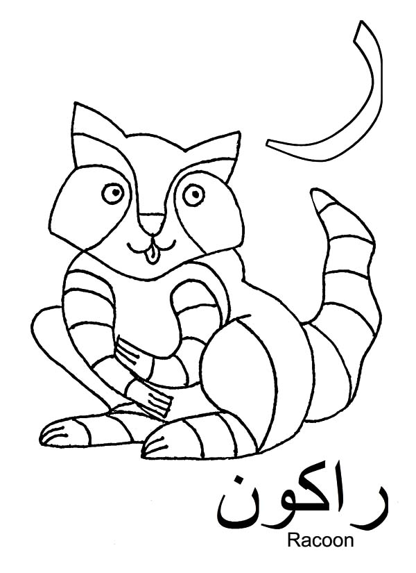 Arabic Alphabet Fro Racoon Coloring Pages : Best Place to