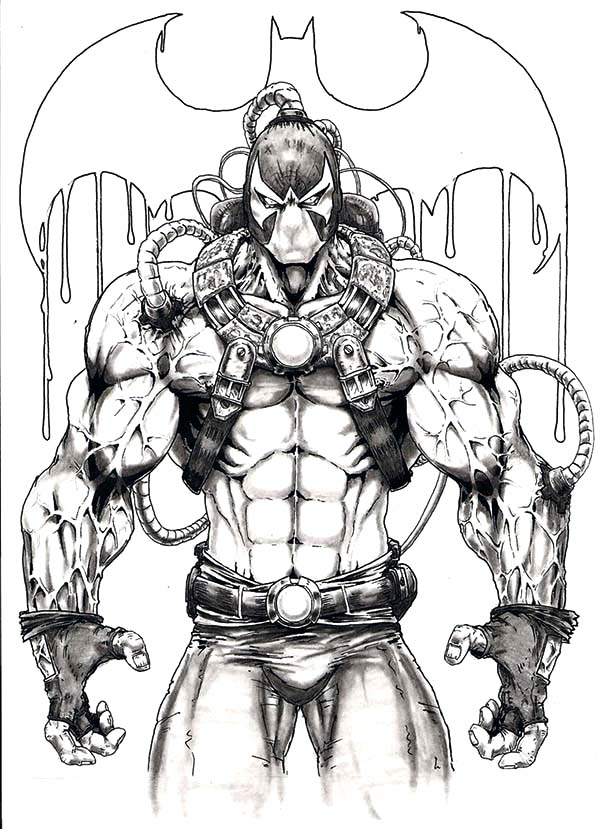 Awesome Picture Of Bane Batman Coloring Pages : Best Place