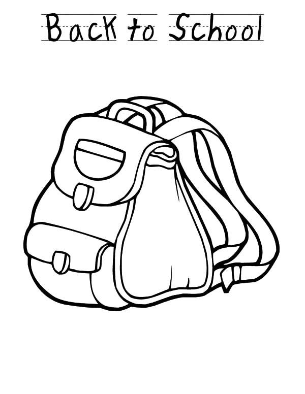 Back To School Backpack Design Coloring Pages : Best Place