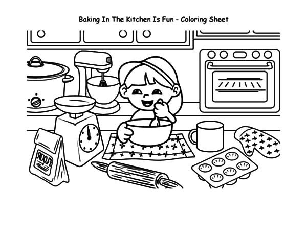 mess on table coloring sheet coloring pages