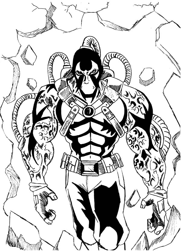 Bane Batman Walking Through The Wall Coloring Pages : Best
