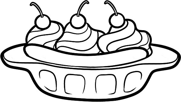 Banana Split Multiplication Coloring Pages Coloring Pages