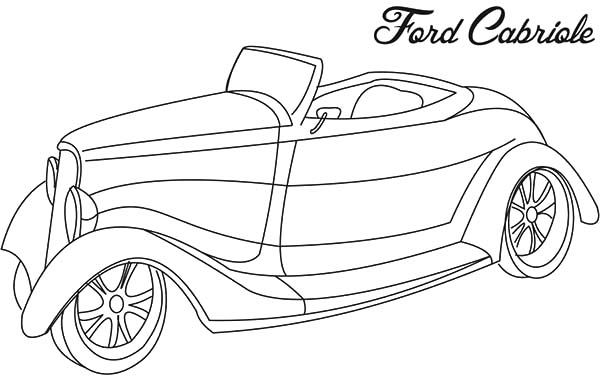 Ford Cabriole Antique Car Coloring Pages : Best Place to Color