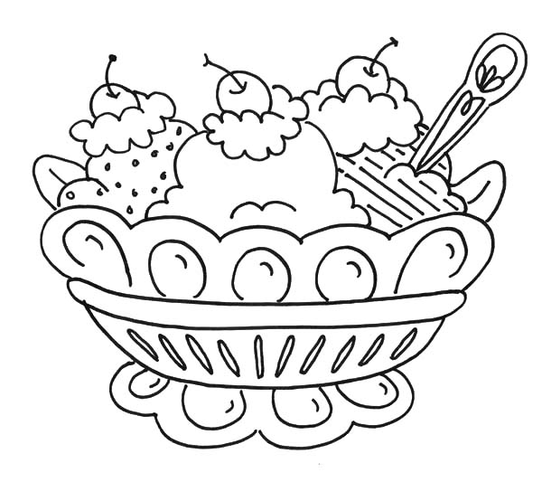 Banana Split Coloring Pages Printable Coloring Pages