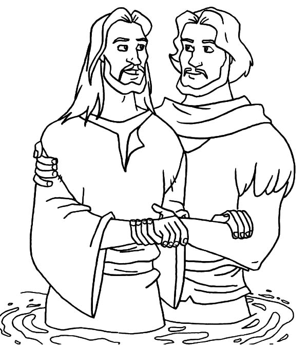 Baptism Coloring Pages Printables Coloring Pages