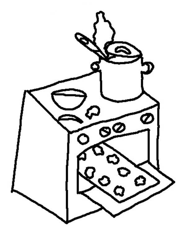 Stove Coloring Pages