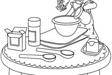 My Mother Baking Cookies Coloring Pages : Best Place to Color