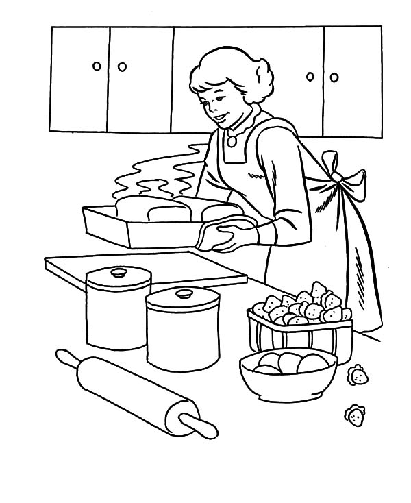 my mother baking cookies coloring pages my mother baking