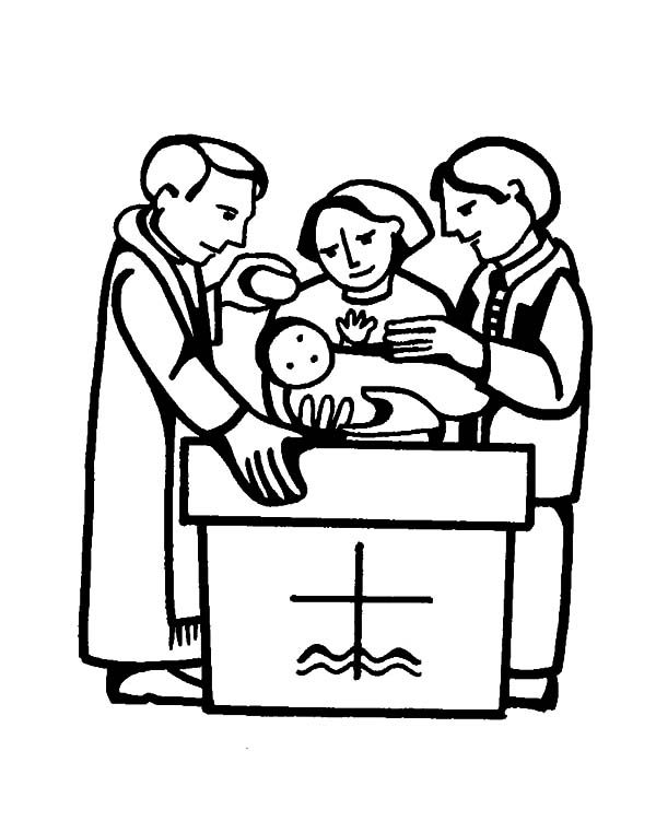 Pouring Water at Baptism Coloring Pages Best Place to Color