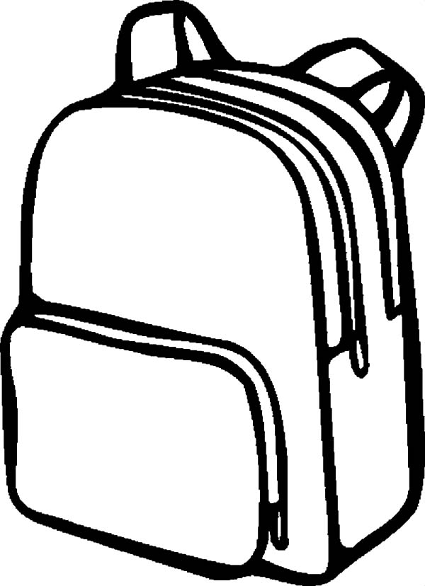 Simple Design Backpack Coloring Pages: Simple Design