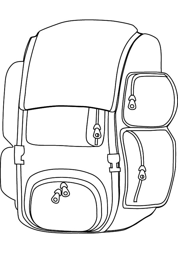 Useful Design Backpack Coloring Pages : Best Place to Color