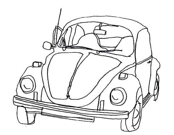 Groovy Vw Bus Coloring Page Coloring Pages