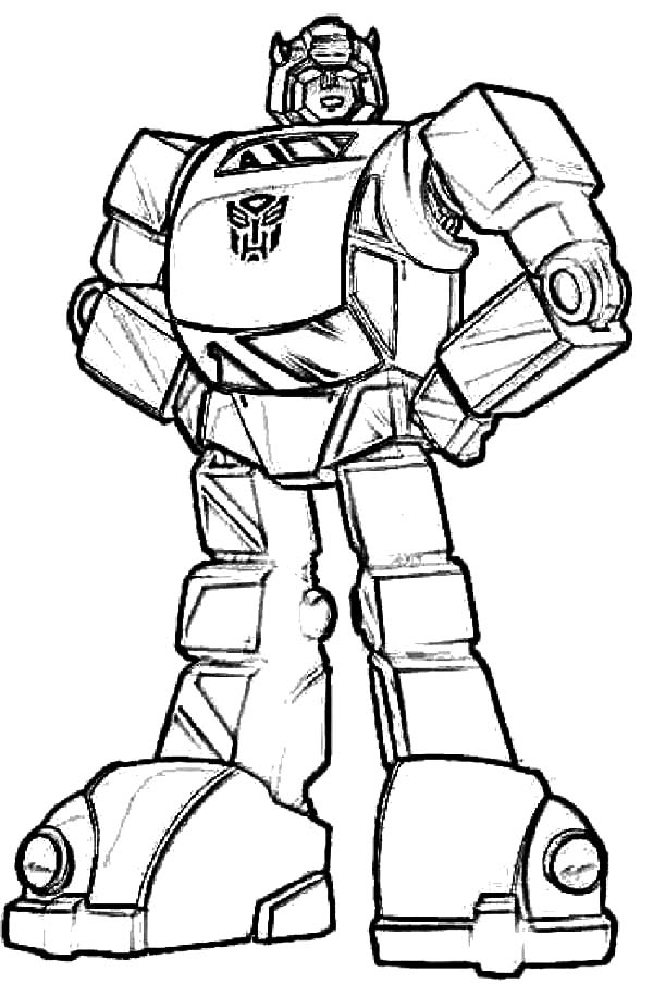 Autobots Bumblebee Car Transformer Coloring Pages