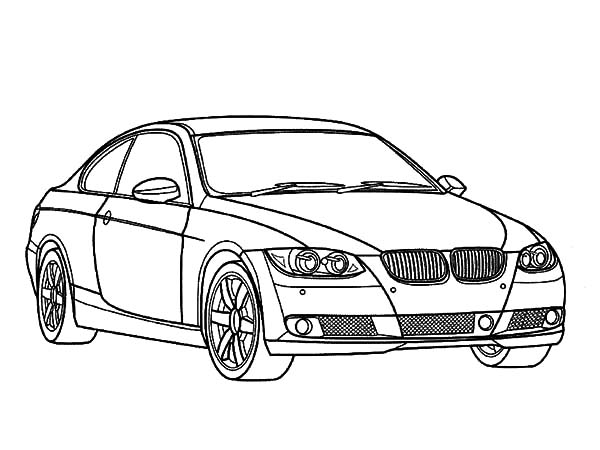 BMW Car Elegant Design Coloring Pages: BMW Car Elegant