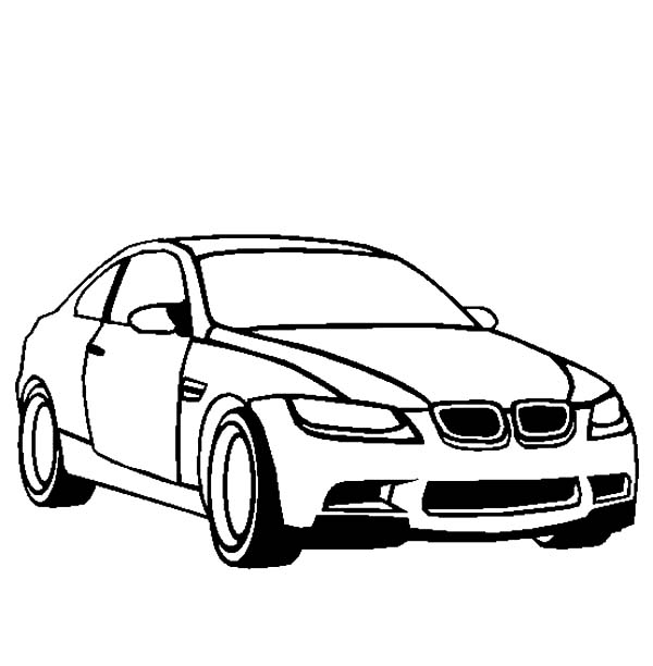 BMW Car M3 Coloring Pages: BMW Car M3 Coloring Pages