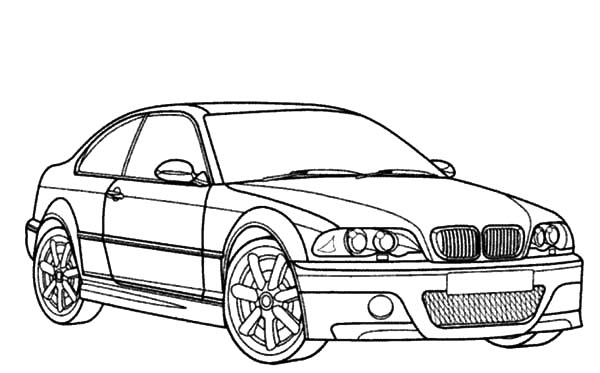 BMW Car M3 Type Coloring Pages: BMW Car M3 Type Coloring