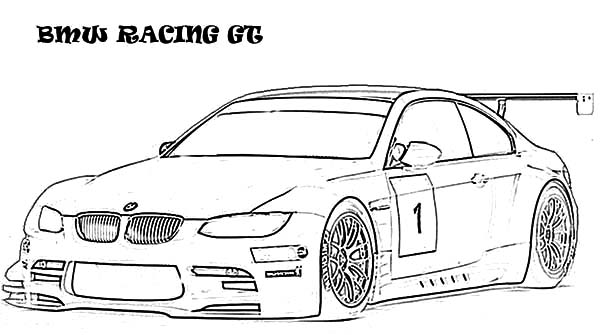 BMW Car Racing GT Coloring Pages: BMW Car Racing GT