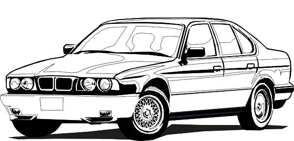 BMW Car Sedan Coloring Pages: BMW Car Sedan Coloring Pages