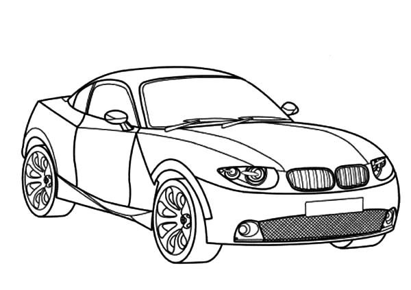 Bmw Car Coloring Pages Sketch Coloring Page