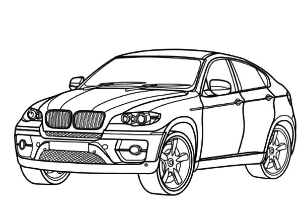 BMW Car X6 Coloring Pages: BMW Car X6 Coloring Pages