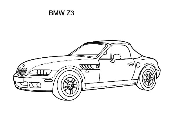 BMW Car Z3 Coloring Pages: BMW Car Z3 Coloring Pages