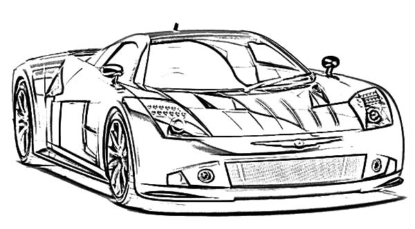 BMW Car The Awesome Racing Car Coloring Pages : Best Place