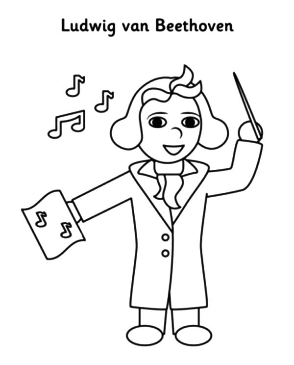 Beethoven Lead Orchestra Coloring Pages : Best Place to Color