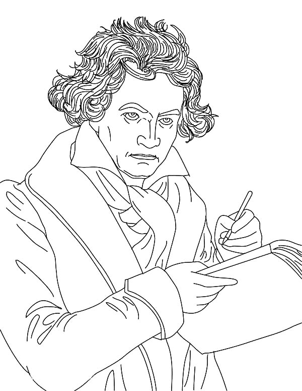 Beethoven Write Music Note Coloring Pages : Best Place to