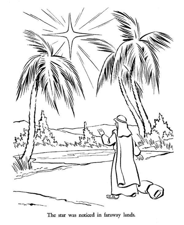 Bible Christmas Story Star of Bethlehem Coloring Pages