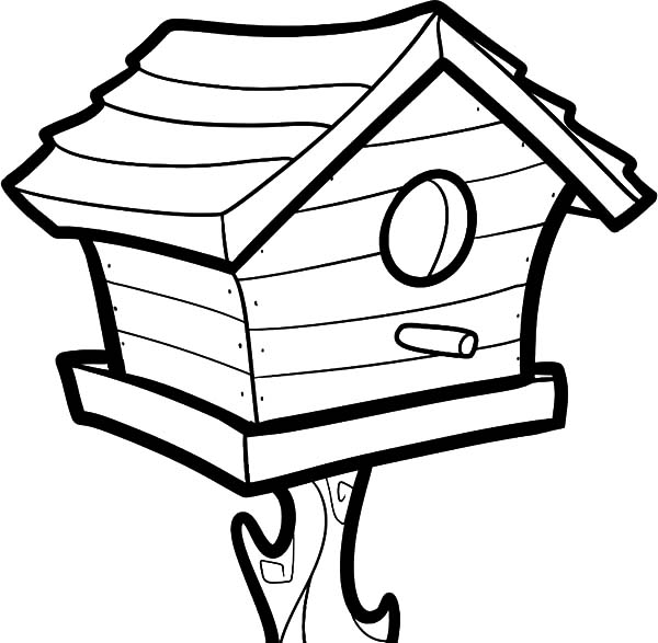 Big Bird House Coloring Pages: Big Bird House Coloring