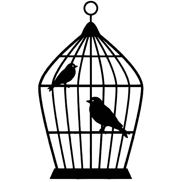 Bird Cage Picture Coloring Pages : Best Place to Color