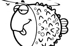 Angry Blowfish Coloring Pages : Best Place to Color