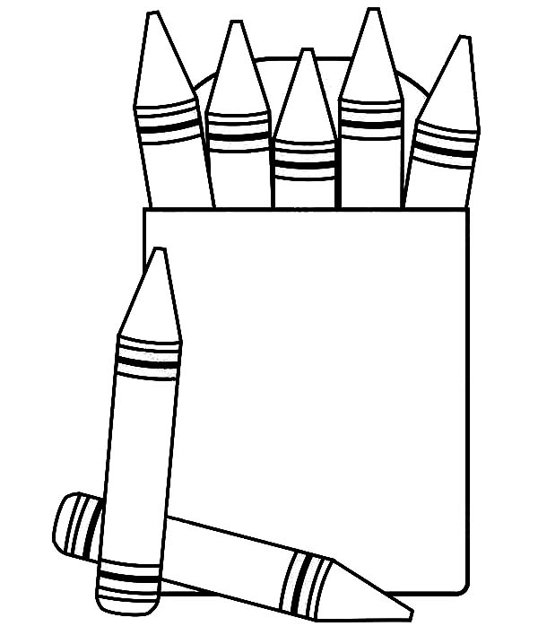Box Crayons Colors Coloring Pages : Best Place to Color