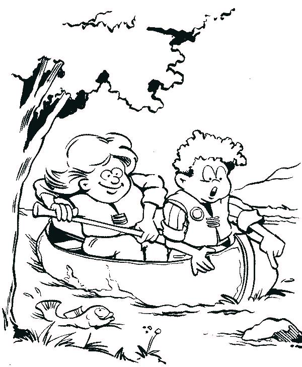 Boy Scouts Catching Fish Coloring Pages : Best Place to Color