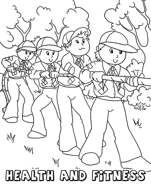 Boy Scouts Core Value Health and Fitness Coloring Pages